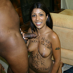 south african indian girl sucks a huge black cock